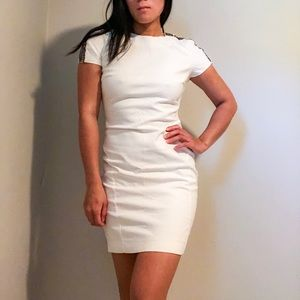 White Zara with beaded shoulders size M
